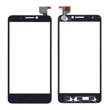 Тачскрин (Сенсорное стекло) для смартфона Alcatel One Touch Idol 6030D черное