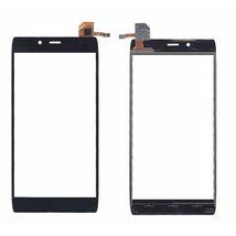 Тачскрин (Сенсорное стекло) для смартфона Alcatel IDOL alpha 6032X черный