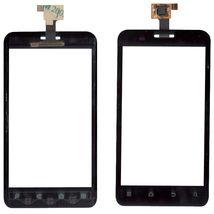 Тачскрин (Сенсорное стекло) для смартфона ZTE V889D, V880E Dual черный