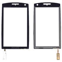 Тачскрин (Сенсорное стекло) для смартфона Philips Xenium X815 черный