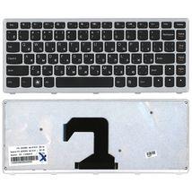Клавиатура Lenovo IdeaPad (U410) Black, (Silver Frame), RU