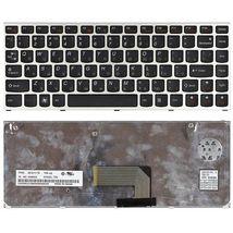 Клавиатура Lenovo IdeaPad (U460) Black, (Silver Frame), RU
