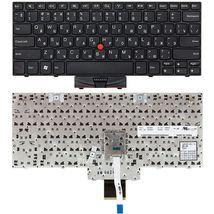 Клавиатура Lenovo ThinkPad Edge (E10, X100, X100E, X120E), с указателем (Point Stick) Black, Black Frame, RU