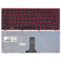 Клавиатура Lenovo IdeaPad (Z470, G470Ah, G470GH, Z370) Black, (Red Frame), RU