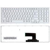 Клавиатура Sony Vaio (VPC-EH, VPCEH) White, (White Frame) RU