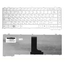 Клавиатура Toshiba Satellite (C600)  White, RU/EN