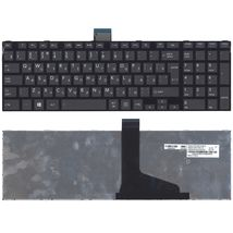 Клавиатура Toshiba Satellite (C55, C55-A, C55DT) Black, (Black Frame) RU (вертикальный энтер)