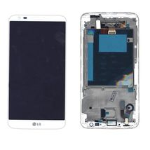 Матрица с тачскрином (модуль) для LG G2 D801 белый с рамкой