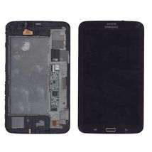 Матрица с тачскрином (модуль) Samsung Galaxy Tab 3 7.0 SM-T211 коричневый с рамкой