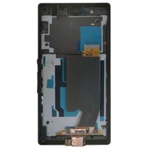 Матрица с тачскрином (модуль) для Sony Xperia Z C6603 черный с рамкой