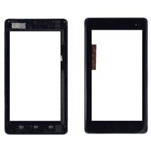 Тачскрин (Сенсорное стекло) для планшета Huawei Ideos S7 Slim S7-201u черный с рамкой
