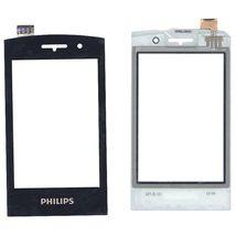 Тачскрин (Сенсорное стекло) для Philips Xenium W727 черный