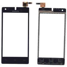 Тачскрин (Сенсорное стекло) для Philips Xenium W737 черный