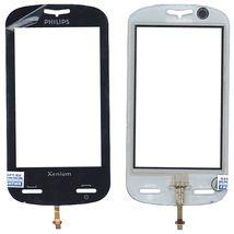 Тачскрин (Сенсорное стекло) для Philips Xenium X800 черный