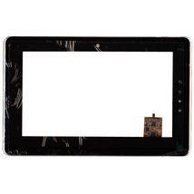 Тачскрин (Сенсорное стекло) для планшета Toshiba Folio AS100 AS100-01B черный с рамкой