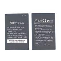 Аккумуляторная батарея для смартфона Prestigio PAP3400 3400 Multiphon 3.7V Black 1500mAh 5.55Wh
