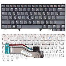 Клавиатура для ноутбука Dell Latitude (E5420, E6220, E6320, E6420, E6430, E6620) с указателем (Point Stick), Black, RU/EN