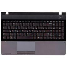 Клавиатура для ноутбука Samsung (300E5A) Black, с топ панелью (Gray), RU
