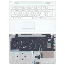 Клавиатура для ноутбука Samsung (370R4E, 370R4E-S01, 370R5E) White, с топ панелью (White), RU